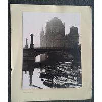 Берлин. Худож.фото Берлинского кафедральнго собора (Dom) 12х15 см