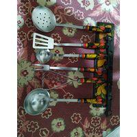 Набор кухонных принадлежностей Хохлома СССР