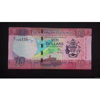 10 долларов 2017 года. Соломоновы острова. UNC. Распродажа