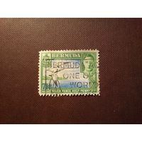 Бермуды 1941 г.Георг -VI.Белохвостый фаэтон.
