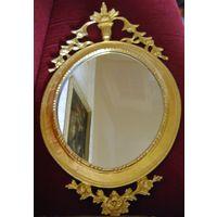 Зеркало декоративное в металлической оправе.Литье