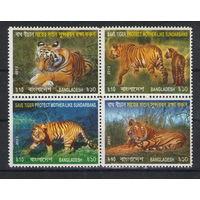 Бангладеш Тигры 2013 год чистый квартблок