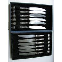 Набор десертных ножей (12 шт.) в оригинальной коробке. мельхиор
