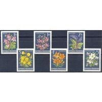 Австрия 1966 Цветы, 6 марок