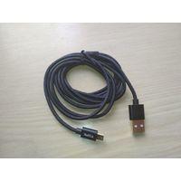 Дата-кабель USB - micro USB в оплетке 180 см TOPK