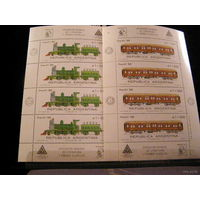 Аргентина 1988 Железная дорога Паровозы