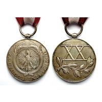 Польша. RP 1918-39г. Медаль За долголетнюю службу - 20 лет. Люкс.