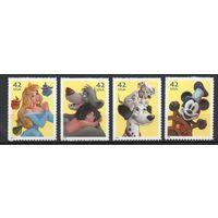 Герои мультфильмов США 2008 год 4 марки