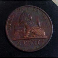 2 сантима 1873 Бельгия