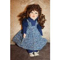 Винтажная кукла, Германия, фарфоровая голова, руки, ноги, высота 39 см.
