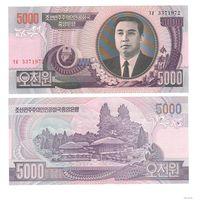 СЕВЕРНАЯ КОРЕЯ 2006 ГОД 5000 ВОН-UNC-ПРЕСС