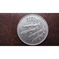 Исладия 10 крон  1984 г