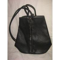 Рюкзак кожаный черный женский