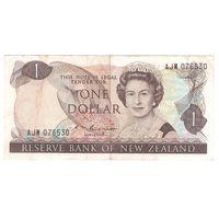 Новая Зеландия 1 доллар образца 1981 года. Подпись S.T. Russel и слово GOVERNOR. Тип Р 169b. Нечастая!