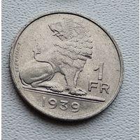 Бельгия 1 франк, 1939 'BELGIQUE - BELGIE' 3-14-48