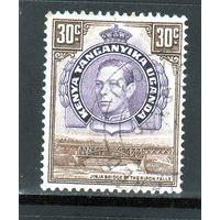 Британские колонии.Кения,Уганда,Танганьика.30с. Король Георг V.Мост.