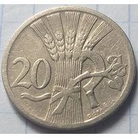 Чехословакия 20 геллеров, 1927      ( 6-8-1 )