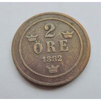 Швеция, 2 эре 1882 год