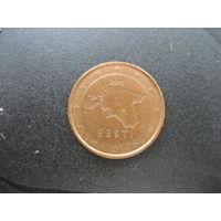1 евроцент Эстония 2011