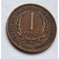 Восточные Карибы 1 цент, 1955 4-8-2