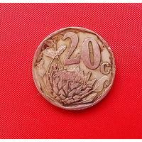 66-07 ЮАР, 20 центов 1996 г.