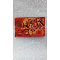 Грузинская пластиковая карта mastercard  с чипом, оранжевая.  распродажа