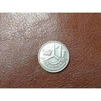 1 франк 1991 Бельгия ( Надпись на французском - 'BELGIQUE' )
