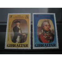 Марки - Гибралтар, 1980, известные люди, военные - адмирал Нельсон, ордена и награды на марках