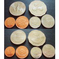 Тонга - набор из 6 монет 1, 2, 5, 10, 20, 50 сенити