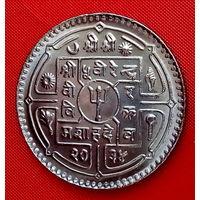 34-18 Непал, 1 рупия 1977 г. Единственное предложение монеты данного года на АУ