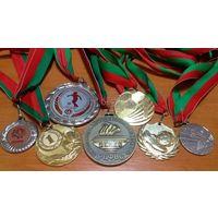 Большая коллекция медалей от девушки-футболистки. Могилёв! Недорого 2.5руб/шт. Всё что на фото!(#1)