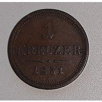 Австрия 1 крейцер 1851 А