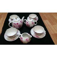 Сервиз ЛФЗ чайный набор заварник  сахарница сливочник чайная пара СССР