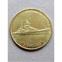 Науру 5 долларов 2017