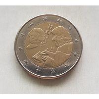 2 евро Нидерланды 2011 500 лет издания книги Похвала глупости Эразма Роттердамског