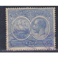 Бермудские острова Король Георг 5 Парусник 1920 год гашеная марка