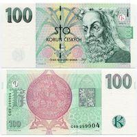 Чехия. 100 крон (образца 1997 года, P18, UNC)