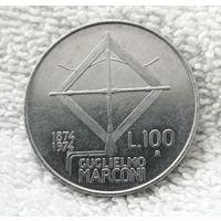 100 лир 1974 Италия 100 лет со дня рождения Г. Маркони #01