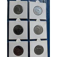 Сомали 10 шиллингов 2000 Китайский гороскоп. Набор 12 монет. UNC