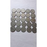 50 копеек по годам ( 25 шт.). Без МЦ. С 1 рубля.