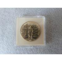 """Настольная памятная медаль """"В память тысячелетия крещения Руси."""" СССР, 1988 год, диаметр 41 мм, алюминий."""