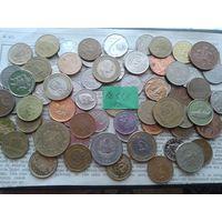 С рубля! 70 монет, весь Мир, но без СССР, УК и РФ (лот#11Y). Сегодня и завтра- новые аукционы!