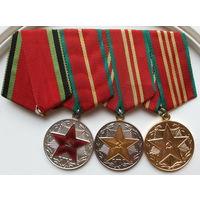 Комплект, набор За 10, 15, 20 лет безупречной службы КГБ СССР. Не серебро.