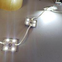 БЕЛЫЕ ((цена за 3 шт)) 1 Вт светодиодные модули. 4 светодиода 5050. 12 Вольт. Аналог светодиодной ленты