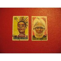 Марки Маски для танцев 1965 года Гвинея