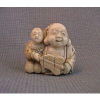 "Япония.Нэцкэ ""Хотэй с ребенком"". Мейдзи (конец 19 века)"