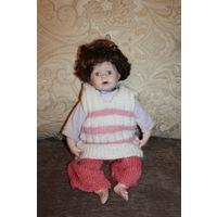 Винтажная кукла, Германия, фарфоровая голова, руки, ноги, высота 40 см.