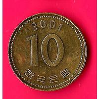 14-17 Южная Корея, 10 вон 2001 г.
