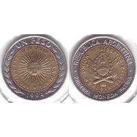 Аргентина 1 песо 1994 биметалл