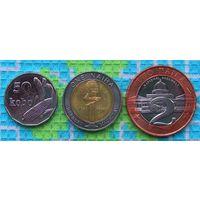 Нигерия 50 кобо, 1 и 2 найры 2006 года. UNC. Гарантия низкой цены!